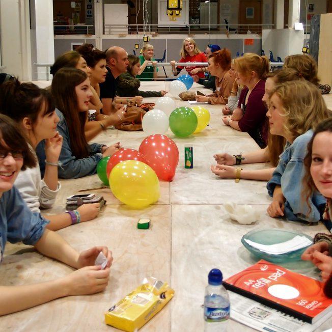 Crafts course at table sylvia li