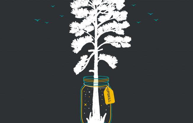 Tree in jar